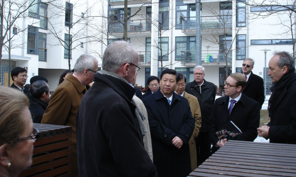 Chinese President Xi Jinping visited Hammarby Sjostad in 2010.